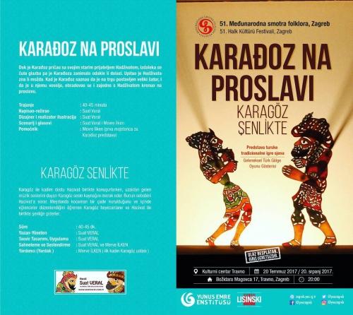Karagöz ve Hacivat Zagreb'de ( Temmuz 2017 )