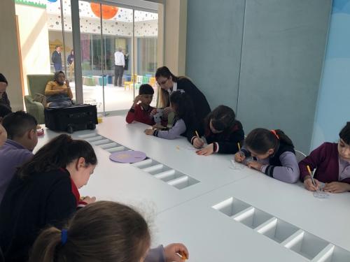 Gaziantep'in Çocuk Kütüphanelerinde Karagöz ve Hacivat Oyunları Sergilendi. ( 17 Nisan 2019 )